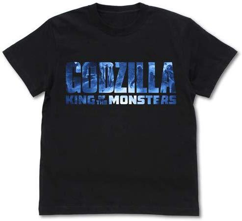 Godzilla: King of the Monsters - Logo - Character Cospa Cotton T-Shirt Black