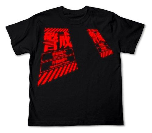 Rebuild of Evangelion Warning - Cospa Cotton T-Shirt Black