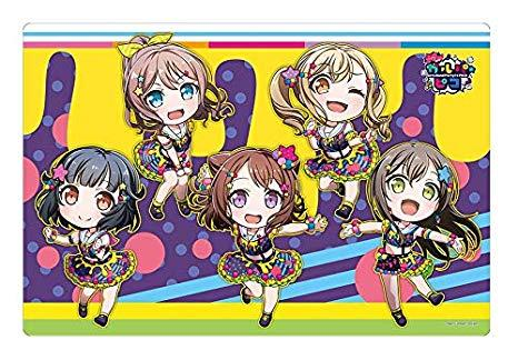BanG Dream! Girs Band Party Pico - Poppin`Party Colorful Poppin! - Character Rubber Playmat Vol.365
