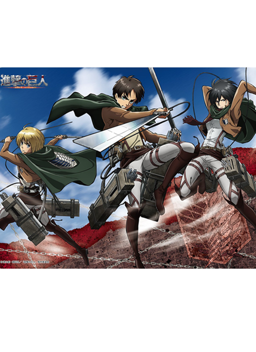 Attack on Titan - Eren/Mikasa/Armin - Rubber Play Mat