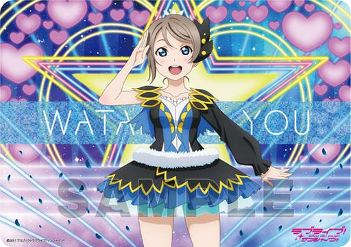 Love Live! Sunshine!! You Watanabe Water Blue New World Ver. - Character Rubber Play Mat