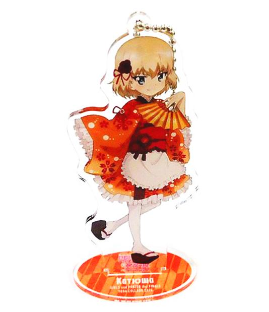 Girls und Panzer Collab Cafe - Katyusha - Exclusive Acrylic Stand Key Chain