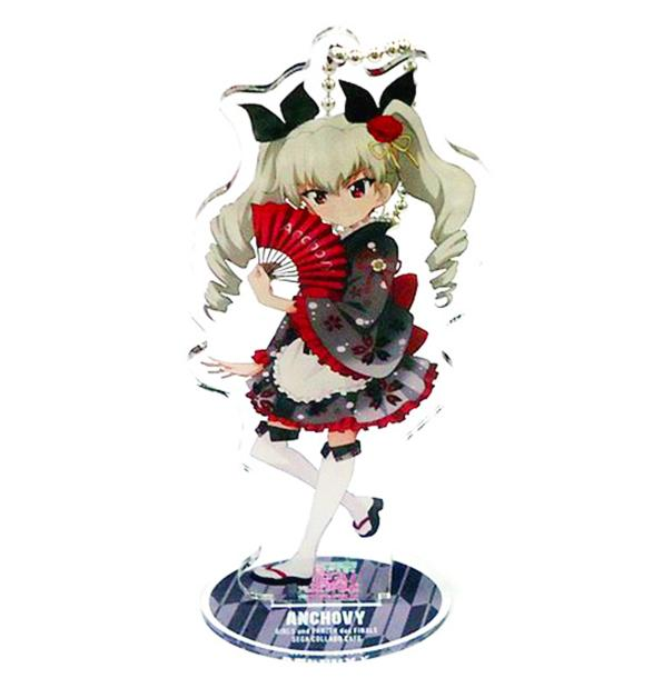 Girls und Panzer Collab Cafe - Anchovy - Exclusive Acrylic Stand Key Chain