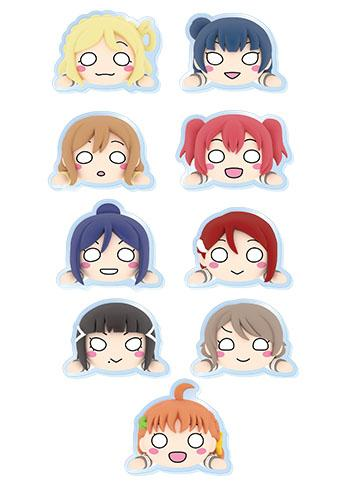 Love Live! Sunshine!! Collab Cafe Character Acrylic Badge Clip Part.2 Individuals