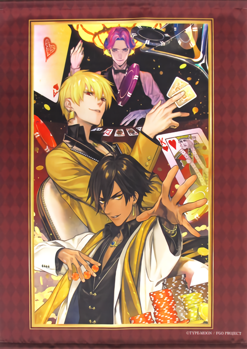 Fate Grand Order Chaldea Boy Collection Cafe Dealers of Gold and Sun B2 Wall Scroll Tapestry FGO