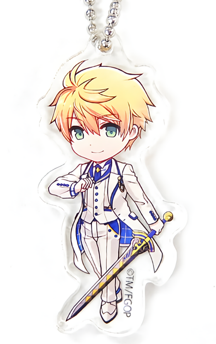 Fate Grand Order Chaldea Boy Collection Cafe Saber Arthur Pendragon Acrylic Mascot Key Chain FGO