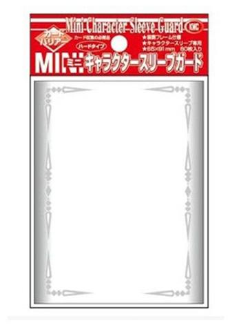 KMC Character Guards Mini Over Sleeves Clear Silver Frame Design 60CT