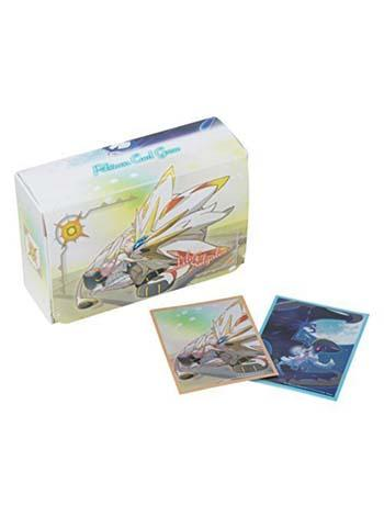 Pokemon Center Original Lillie Solgaleo Lunala - Character Double Deck Box + Sleeves