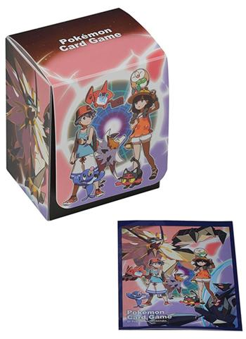 Pokemon Center Original Ultra Alola Adventure Card Shield Deck Box Sleeve Set