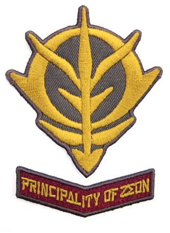 Mobile Suit Z Gundam - Principality of Zeon - Cospa Velcro Patch Wappen SET
