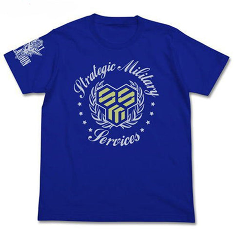 Macross Frontier S.M.S Scull Platoon Cospa T-shirt Royal Blue Sizes  L / XL
