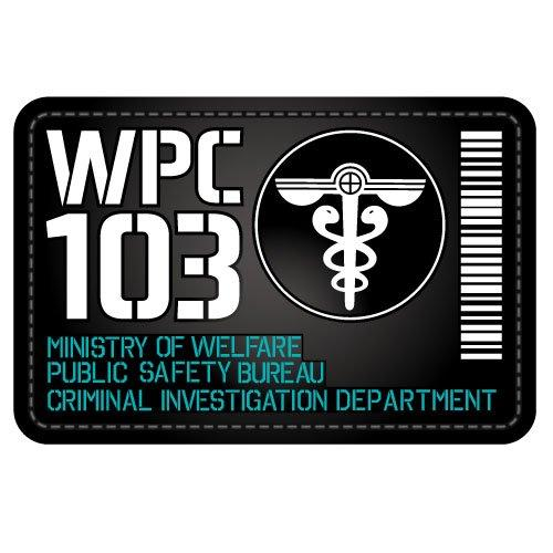 Psycho-Pass - Department of Public Safety - Cospa Removable Velcro Patch Wappen