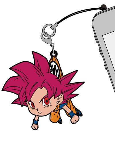 Dragon Ball - Goku Super Saiyan God Ver. - Tsumamare Cospa Pinch Rubber Strap