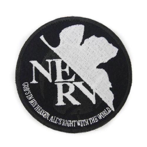Rebuild of Evangelion NERV - Cospa Removable Velcro Patch Wappen Glow In Dark