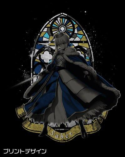 Fate Grand Order Saber Artoria Pendragon Cotton Cospa T-shirt Black FGO