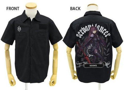 Fate Grand Order - Lancer Scathach Shishou - Black Work Shirt - Sizes L / XL Full Color Back Cospa