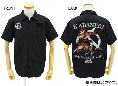 Kabaneri of the Iron Fortress Mumei - Cospa Black Shirt - Sizes L / XL Full Color Back