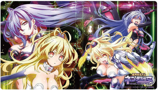 Hyperdimension Neptunia - Pururut Iris Heart & Peashy Yellow Heart - Character Rubber Playmat Vol.38
