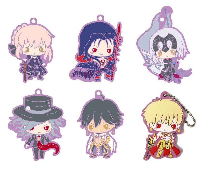 Fate Grand Order Sanrio - Rubber Mascot Ball-Chain Key Chain Vol.2 *SET 6 PCS* FGO