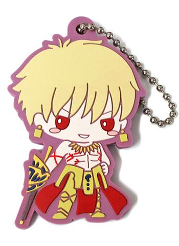 Fate Grand Order Sanrio - Archer Gilgamesh - Rubber Mascot Ball-Chain Key Chain Vol.2 FGO