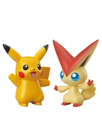 "Pokemon - Pikachu and Victini 3"" Black White - Character Figure Toy"
