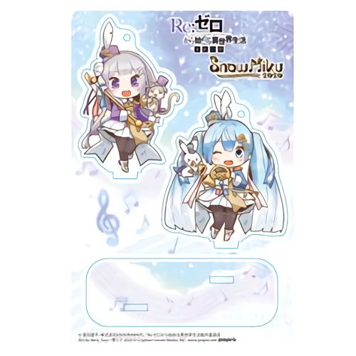 Re: Zero Freezing Bond x Snow Miku 2020 - Emilia & Hatsune Miku - Event Exclusive Character Acrylic Stand
