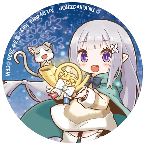 Re: Zero Freezing Bond x Snow Miku 2020 - Emilia - Event Exclusive Character Can Badge