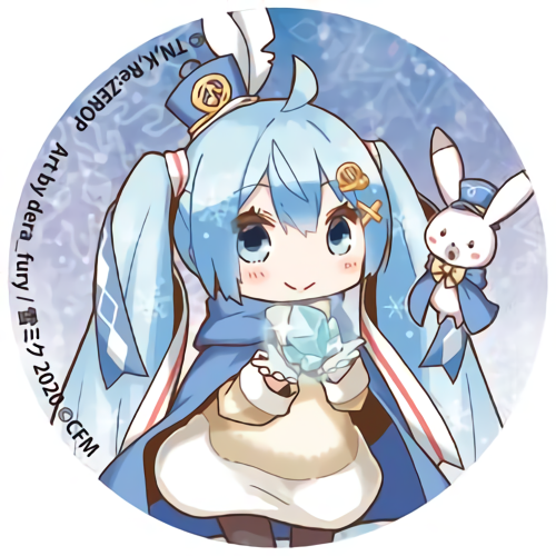 Re: Zero Freezing Bond x Snow Miku 2020 - Hatsune Miku - Event Exclusive Character Can Badge