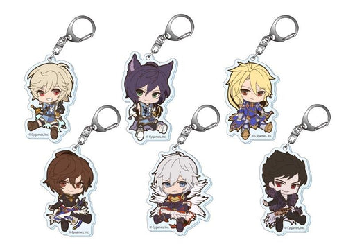 Granblue Fantasy Petanko Animate Exclusive Character Acrylic Key Chain Mascot