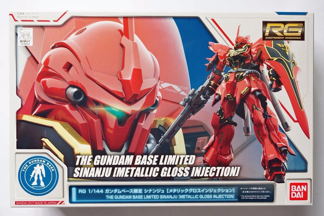 RG Gundam Base Metallic Gloss MSN-06S Sinanju Plastic Model Kit