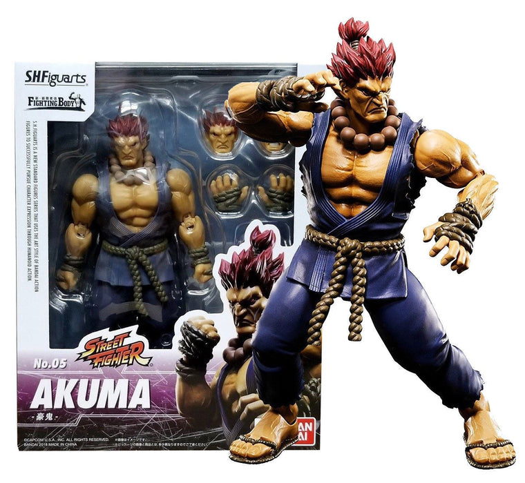 Street Fighter V S.H. Akuma Authentic Tamashii Nations S.H. Figuarts - Action Figure