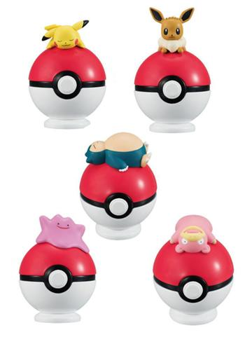 Pokemon Candy Toy Figure - Lying on Poke Ball Ver.