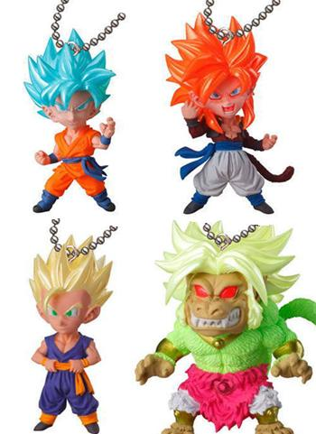 Dragon Ball UDM Special 04 Capsule Mascot Swing Key Chain Jump Ver. *SET of 4*