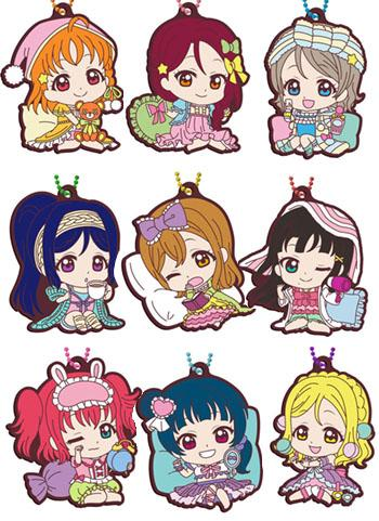Love Live! Sunshine!! Pajamas Ver. Capsule Rubber Mascot Key Chain Vol.10