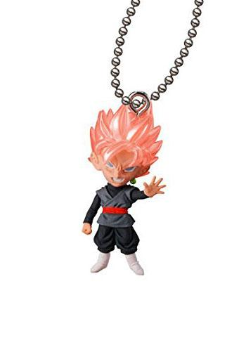 Dragon Ball Super Saiyan Black Rose Goku UDM THE BEST 24 Capsule Mascot Swing Key Chain