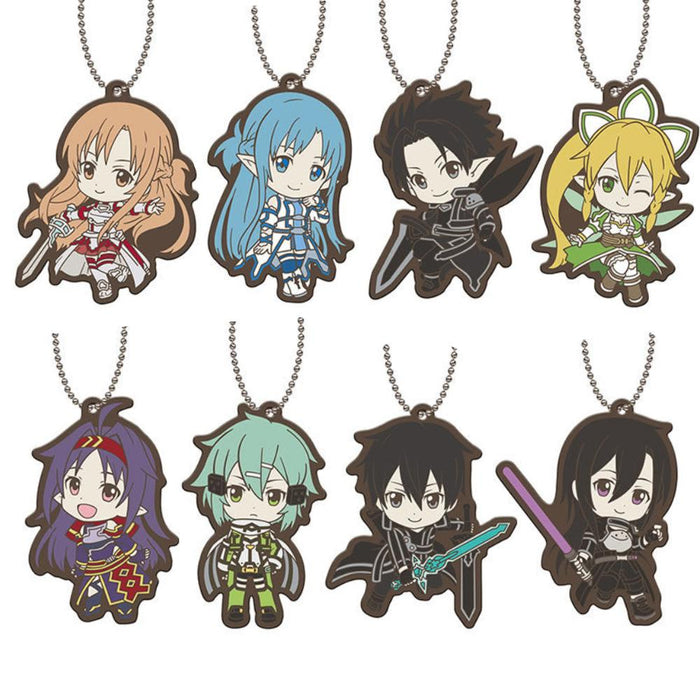 Sword Art Online SAO Capsule Rubber Key Chain Mascot