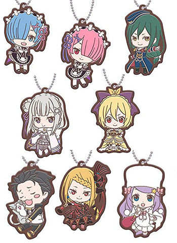 Re: Zero - Character Capsule Rubber Mascot Key Chain