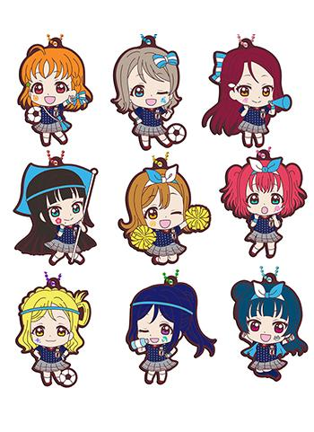Love Live! Sunshine!! Japan Soccer Representative Ver. Capsule Rubber Mascot Key Chain