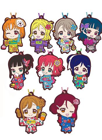 Love Live! Sunshine!! Yukata Kimono Dress Ver. Capsule Rubber Mascot Key Chain Vol.11