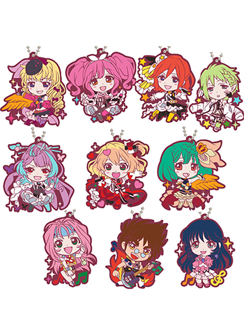 Macross 35th Anniversary Character Rubber Key Chain Mascot *Set of 10*