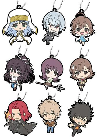 A Certain Magical Index Character Capsule Rubber Key Chain Mascot Vol.3