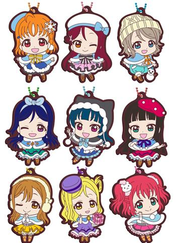 Love Live! Sunshine!! Winter Ver. Capsule Rubber Mascot Key Chain Vol.12