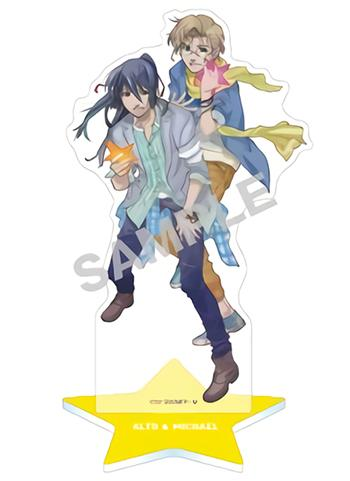 Macross F Frontier 10th Anniversary Alto Saotome & Michael Blanc Character Acrylic Stand