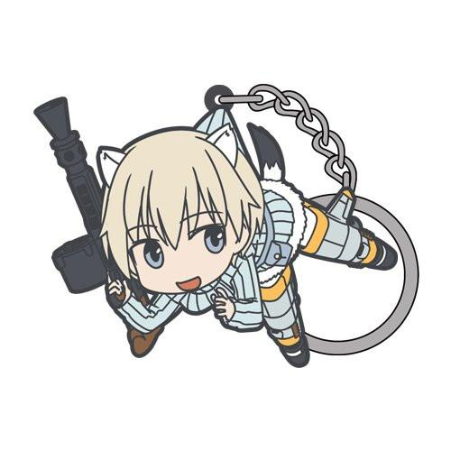 Brave Witches Nipa Katajainen - Tsumamare Cospa Pinch Rubber Key Chain