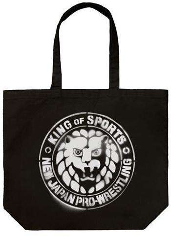 New Japan Pro-Wrestling NJPW Stencil Lion Mark - Cotton Shopper Shoulder Tote Bag