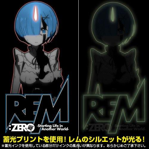 Re: Zero - Rem - Cospa Glow in the Dark T-shirt Black