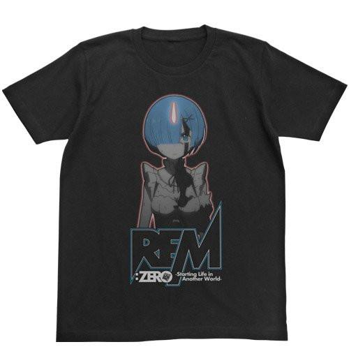 Re:Zero - Rem - Cospa Glow in the Dark T-shirt Black