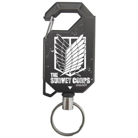 Attack on Titan Survey COSPA Reel Key Ring Carabiner - The Survey Corps