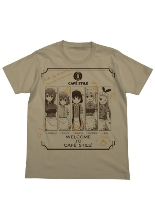 Blend S All Characters - Cotton T-shirt Khaki Moss Sizes L / XL
