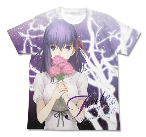 Fate/stay night: Heaven`s Feel - Sakura Matou - Cotton Full Graphic T-shirt White Cospa XL Size